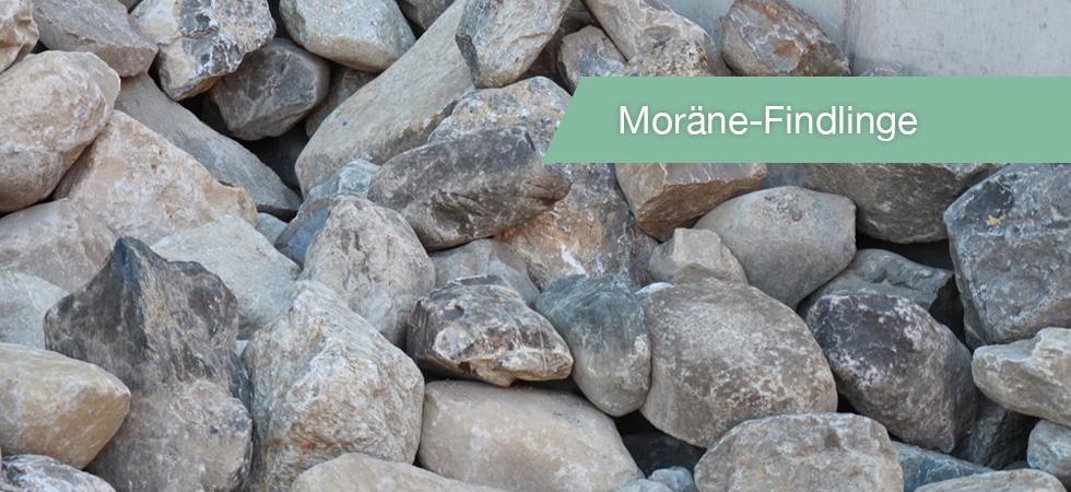 Moräne-Findlinge
